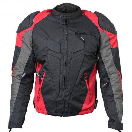 Xelement CF626 Mens Black Armored Textile Race Jacket