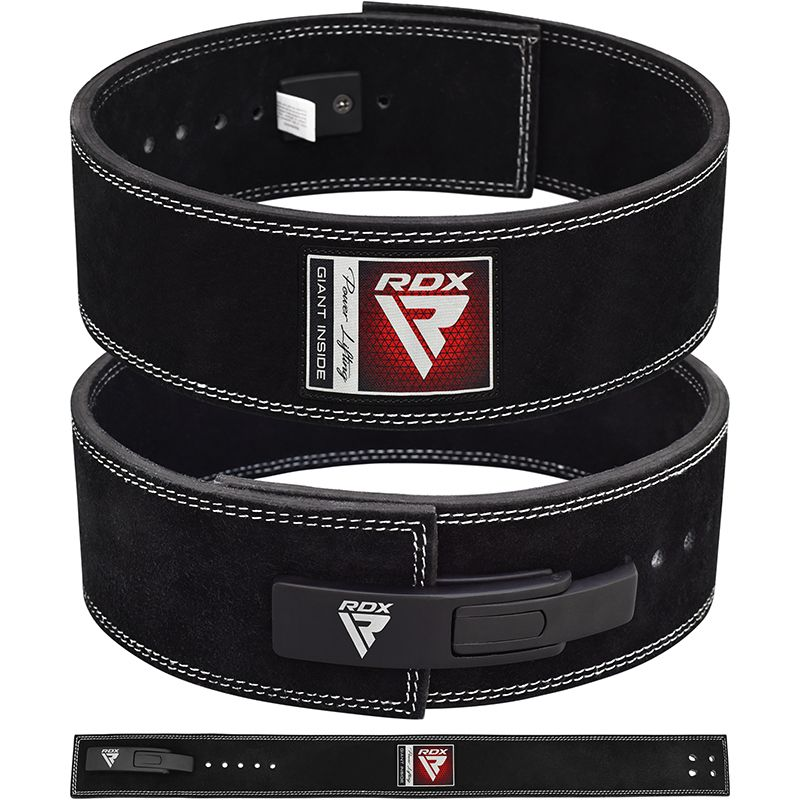 """LEATHER BELT WEIGHT LIFTING BODYBUILDING POWER LIFTING BACK SUPPORT GYM 4"""" SZ M"""