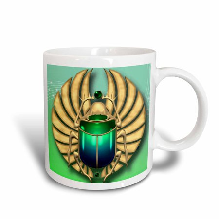 Beautiful Mum - 3dRose Egyptian Scarab in beautiful colors, Ceramic Mug, 11-ounce