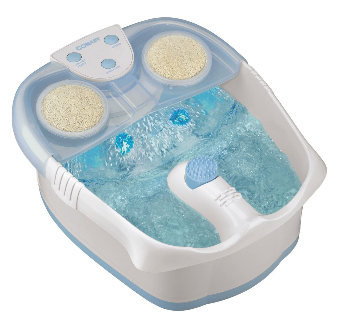 Conair Waterfall Foot Bath with Lights, Bubbles and Heat - Walmart.com