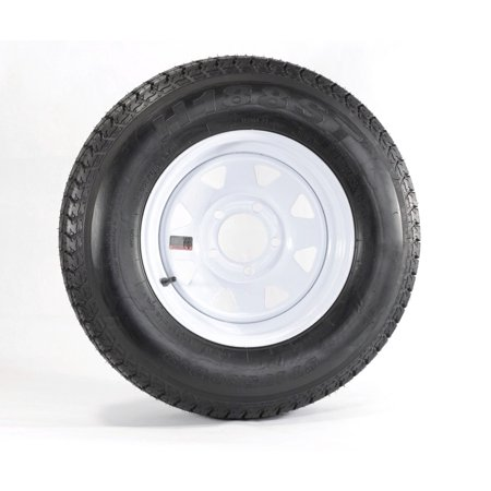 Eco Trailer Tire Rim ST175/80D13 1758013 B78-13 LRC 5 Lug Wheel White Spoke