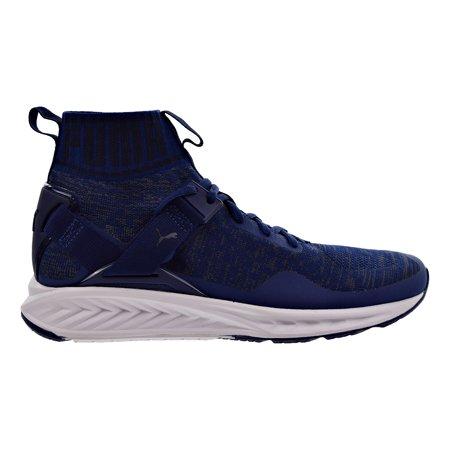 Puma Ignite Evoknit Mens Shoes Blue Depth Quiet Shade Peacoat 189697 11