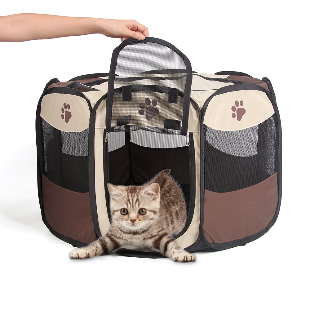 Puppy Playpen Portable Pet Playpen Waterproof Animal Pen Rabbit Pen  Foldable Cat Playpen Dog Playpen Airflow