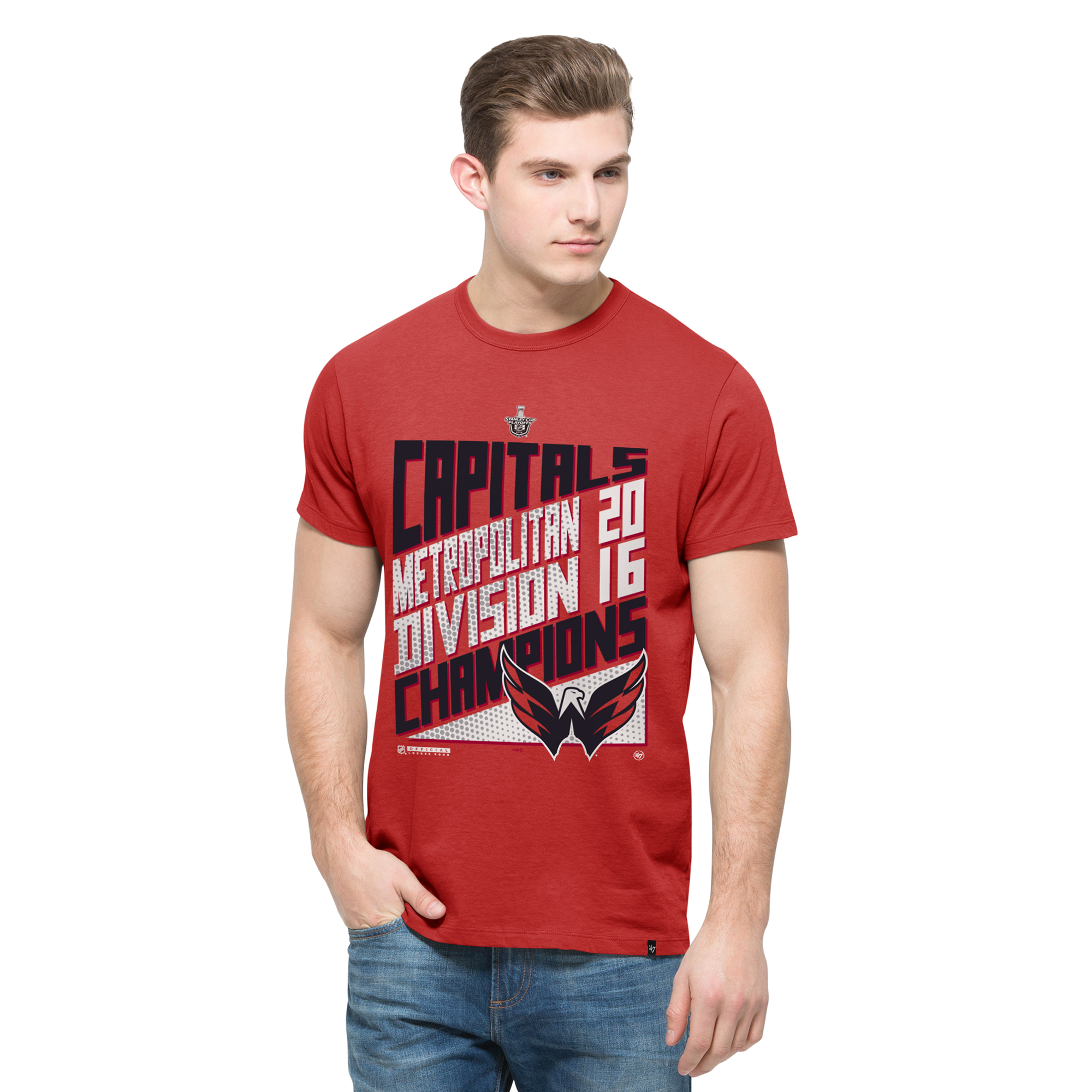 Washington Capitals '47 2016 Metropolitan Division Champions Flanker Locker Room T-Shirt - Red