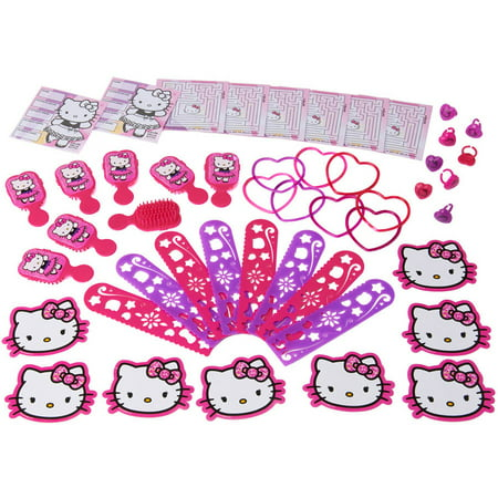 Hello Kitty Birthday Party Invitations - Hello Kitty Party Favor Value Pack, 48pc