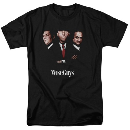 Famous Groups Of 3 For Halloween (Three Stooges Slapstick Famous Comedy Group Wiseguys Adult T-Shirt)