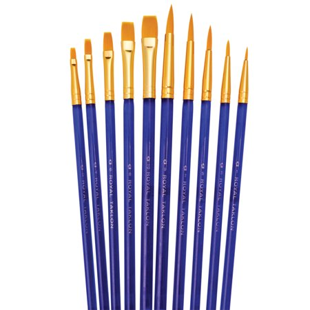 Royal Brush Super Value Brush Set, Golden Taklon, Shaders & Rounds