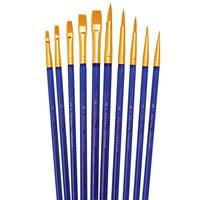 Royal Brush Super Value Brush Set, Golden Taklon, Shaders & Rounds