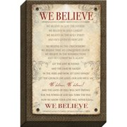 Carpentree We Believe Textual Art on Wrapped Canvas