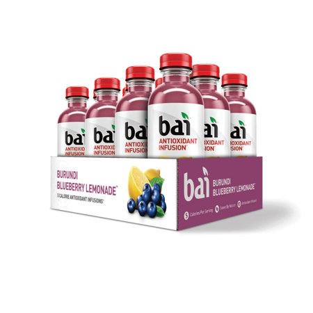 Bai Antioxidant Infused Beverage, Burundi Blueberry Lemonade, 18 Fl Oz, 12 Count