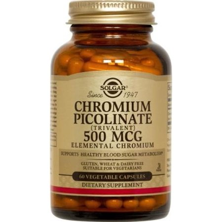 Naturally 60 Vegetable Capsules - Solgar Chromium Picolinate 500 mcg - 60 Vegetable Capsules