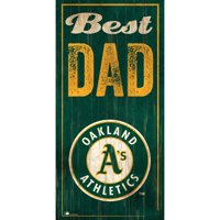 Oakland Athletics 6'' x 12'' Best Dad Sign
