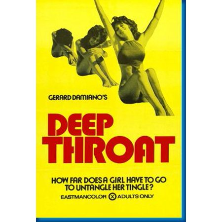 (27x40) Deep Throat Movie Poster Reprint