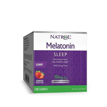 Natrol Melatonin Gummy, 10 mg, 120 Count (Melatonin Solution)