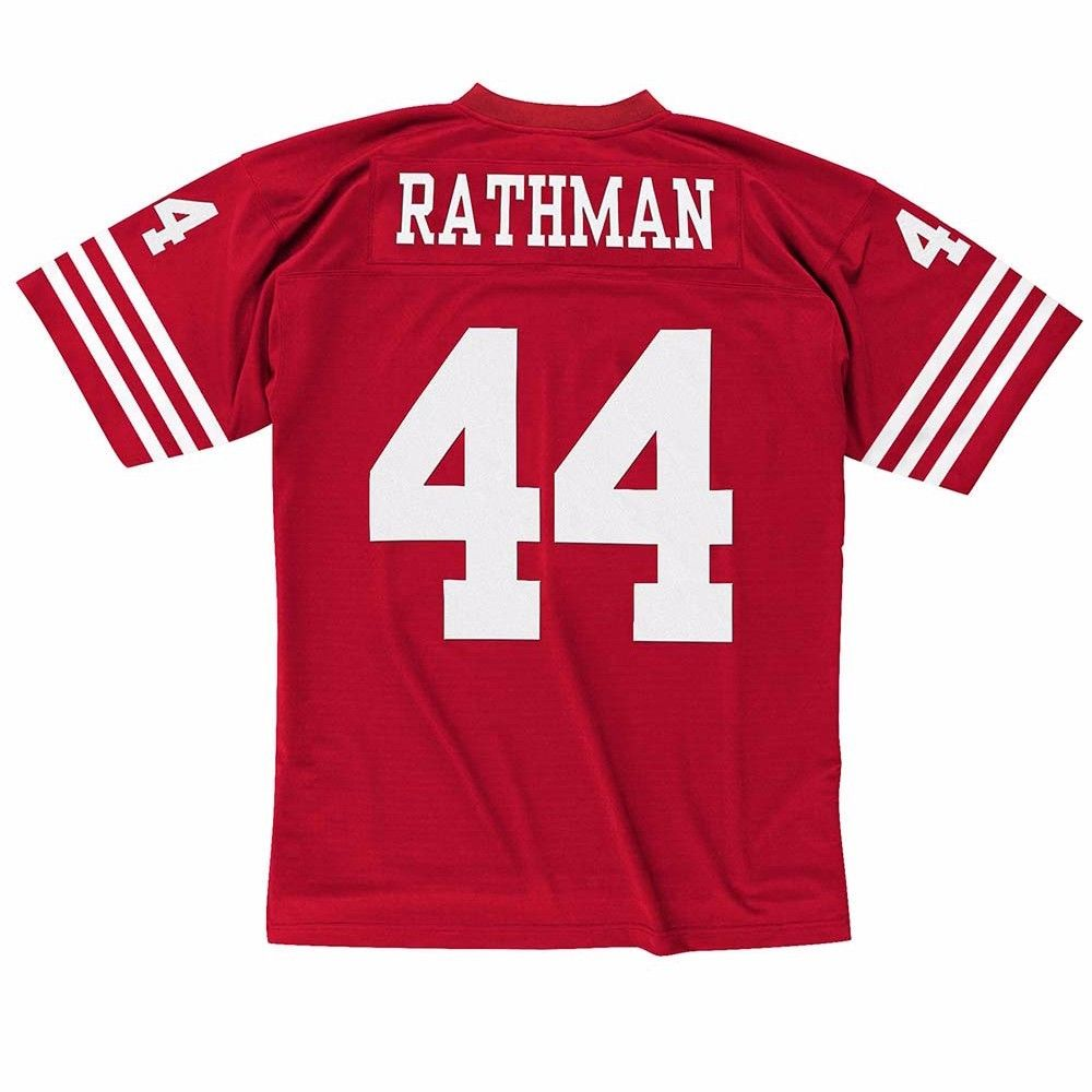 Tom Rathman San Francisco 49ers NFL Mitchell & Ness Men's Red Official Throwback Retro Jersey