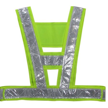 V-Shaped Reflective Safety Vest Traffic Safety Clothing High Visibility Light-Reflecting Vests Anti Freeze Overalls - image 1 de 4