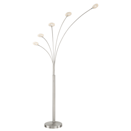 Lite Source Ls 83067 Zale 5 Light 88   High Integrated Led Floor Lamp With Acryli