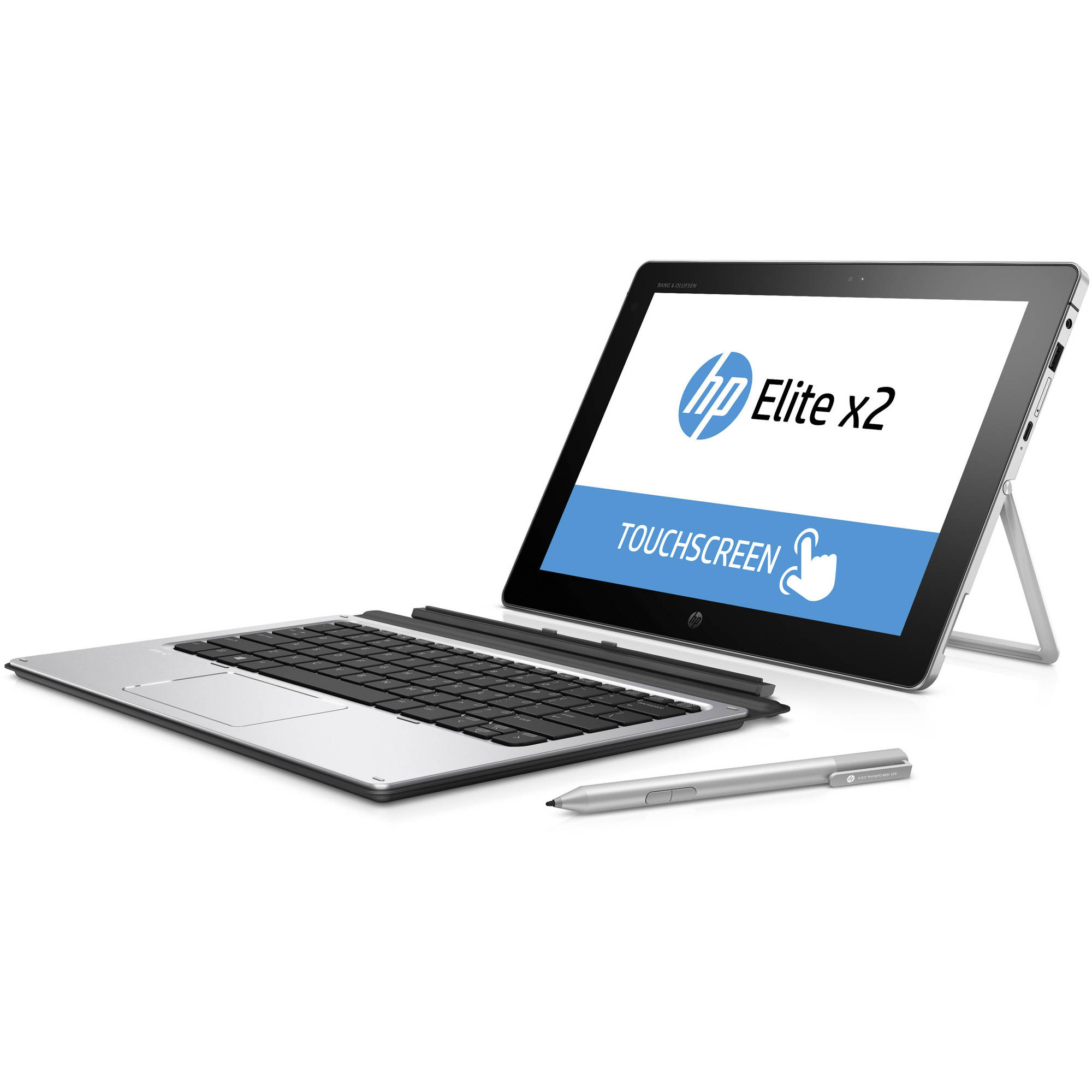 "HP Elite x2 1012 G1 with WiFi 12"" Touchscreen Tablet PC Featuring Windows 10 Pro Operating System, Silver"