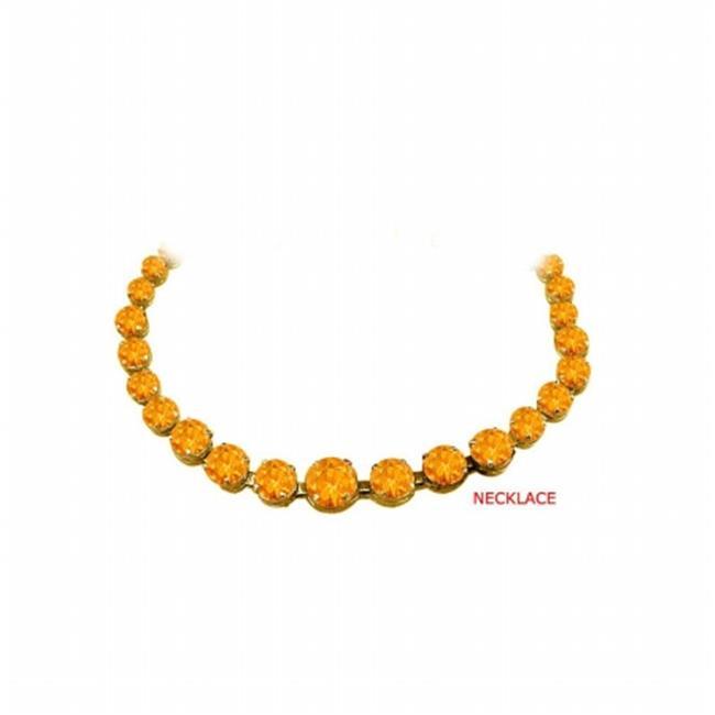 Fine Jewelry Vault UBNKBK7205AGVYCT Citrine Graduated Bead Necklace in 18K Yellow Gold Vermeil 30 CT TGW November... by Fine Jewelry Vault