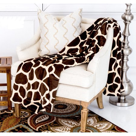 Ultra Soft Micro Plush Flannel Bed Giraffe Skin Print Blanket](Giraffe Blanket)