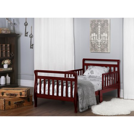 Dream On Me Sleigh Toddler Bed, Cherry - Walmart.com
