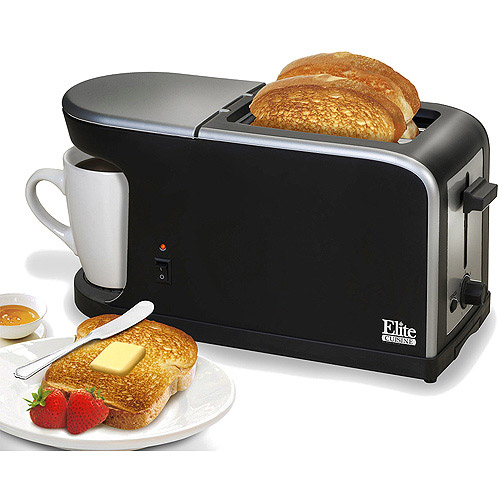 Elite Cuisine 2-in-1 Toaster and Coffee Maker