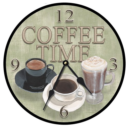 Lexington Studios 10'' Coffee Time Wall Clock by