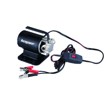 Image of Acquaer 12V Portable Transfer Pump With Suction Attachment and 6ft. Garden Hose