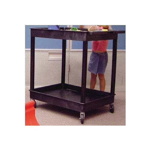 Luxor Large 2-Tub Shelves Cart