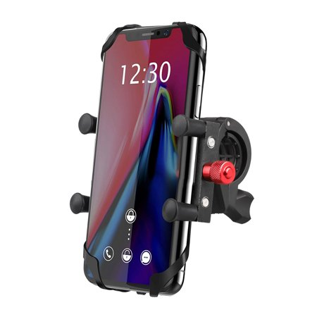 Bike Phone Mount Holder, EEEKit Universal Handlebar Cradle Road & Mountain Bicycle Handlebar Phone Holder Mount Cycling Accessories for iPhone 11 XS X 8 7 6 Plus, Galaxy S10 S9 S8 S7 S6 and