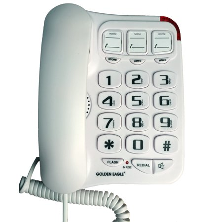Golden Eagle  Big Button Phone with Speakerphone White