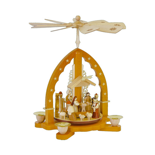 Richard Glaesser 10.5 in. Nativity Scene Pyramid