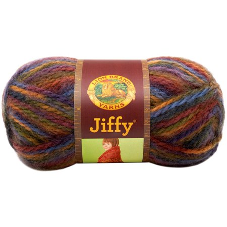 Acrylic Mohair Yarn (450-325 Jiffy Yarn, El Paso, Quick and easy to work, velvety soft, 2 ply brushed 100-Percent acrylic that looks like mohair By Lion Brand)