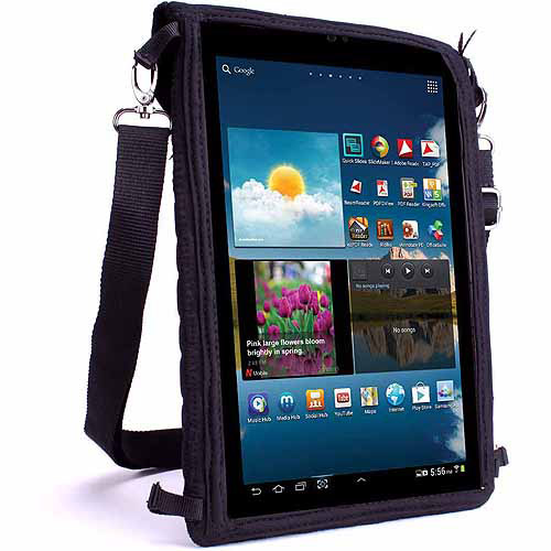 "USA Gear 10"" Tablet Sleeve Case with Touch Capacitive Screen Protector and Adjustable Shoulder Strap - Use with Acer, Apple, Dell, Samsung, ASUS, Toshiba and More Tablets"