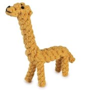"Tough Wound Rope Dog Toys Durable Yellow Giraffe Chew Toy For Dogs 8"" - CLOSEOUT"