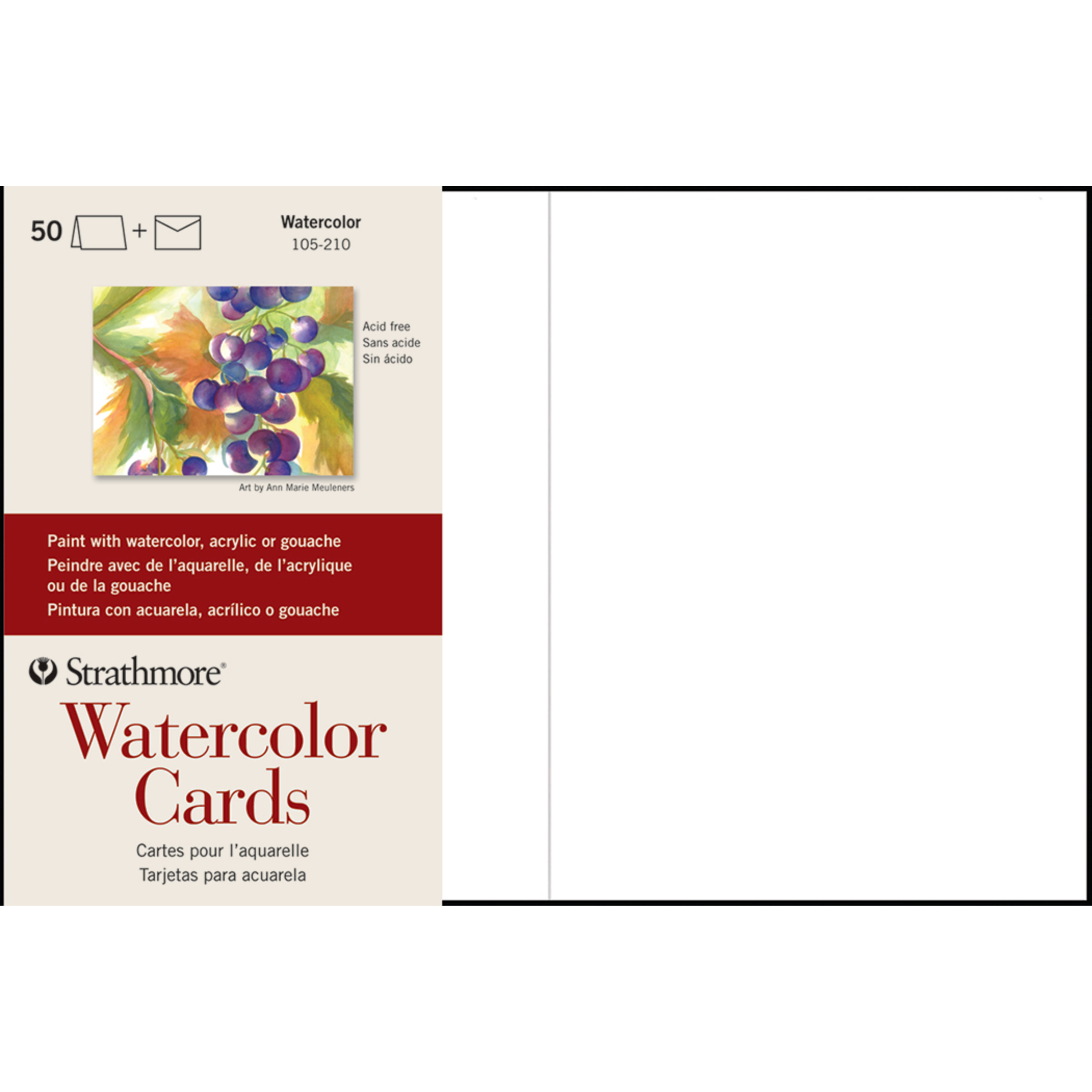 Strathmore Watercolor Cards, 5in x 7in, 50/Pkg.