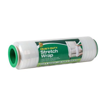 Duck Heavy-Duty Stretch Wrap With Handles, 15 in. x 1000 ft., - Chameleon Stretch Wrap