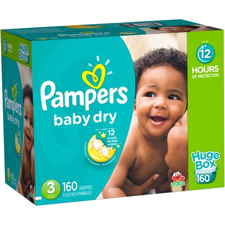 Pampers Baby Dry Diapers Huge Box Choose Your Size
