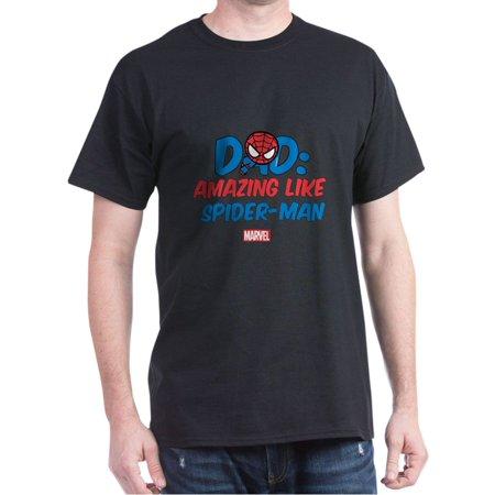 CafePress - Amazing Spider Man Dad Dark T Shirt - 100% Cotton T-Shirt ()
