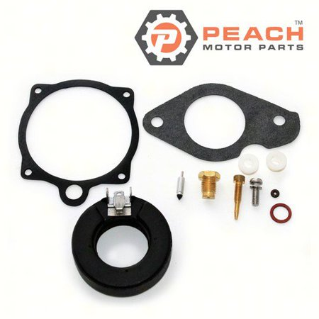 Peach Motor Parts PM-689-W0093-02-00  PM-689-W0093-02-00 Carburetor Repair Kit (For single carburetor); Replaces Yamaha®: 689-W0093-02-00, 689-W0093-01-00, 689-W0093-00-00, Mercury Marine®: 84456M, - 0000 Marine