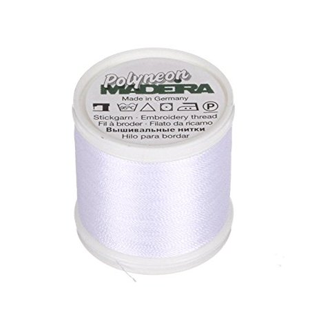 9845-1801 2 Ply Polyneon Polyester Embroidery Thread, 40wt/135d 440 yd, Bright White..., By Madeira Ship from -