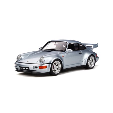 Porsche 911 Carrera RS 911 964 3.8 Polar Silver Limited Edition to 999 pieces Worldwide 1/18 Model Car by GT