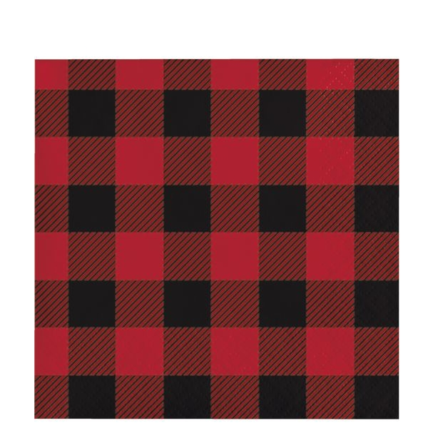 Buffalo Plaid Beverage Napkins (16 ct) by CREATIVE CONVERTING