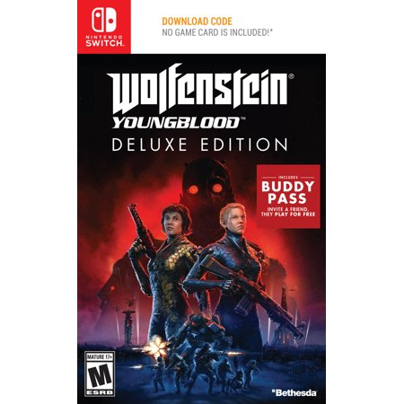 Wolfenstein Youngblood Deluxe Edition, Bethesda Softworks, Nintendo Switch, 093155174863