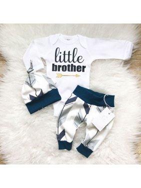 3Pcs Newborn Baby Boy Toddler Clothes Jumpsuit Romper Bodysuit Pants Outfits Set