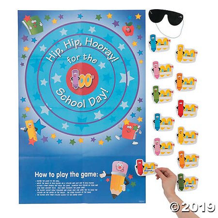 Pin the 100th Day of School on the Target Game (Day After Halloween Sales Target)