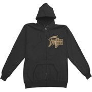 Death Men's The Sound Of Perseverance Zippered Hooded Sweatshirt Small Black