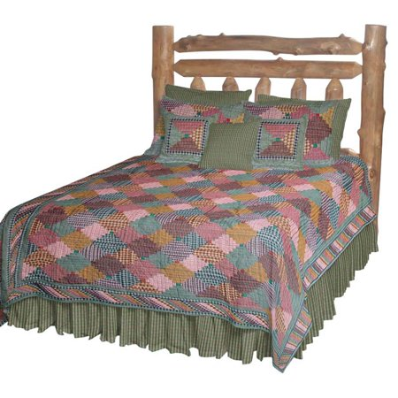 Patch Magic QKHLC Harvest Log Cabin, Quilt King 105 x 95 inch