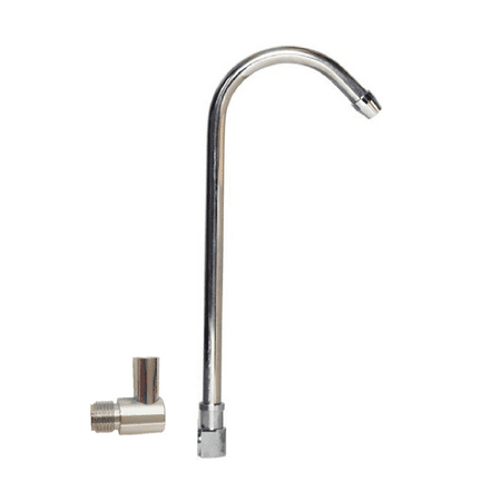California Faucets Elbow (Premier Spout + Elbow Spout Adapter for Countertop Filtration Systems | Chrome Finish | Lead Free | )