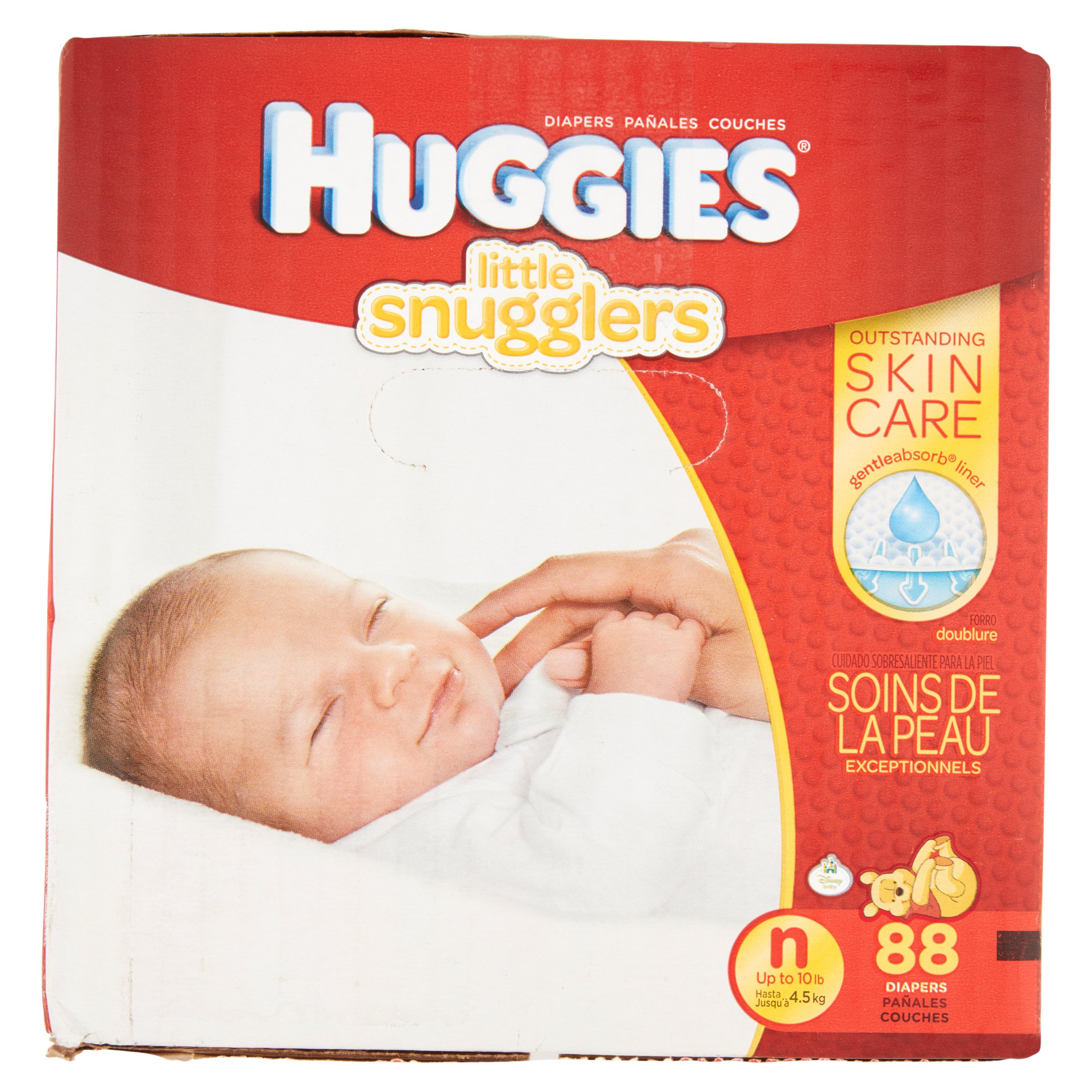 HUGGIES Little Snugglers Diapers, Newborn, 88 Diapers